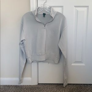 Grey Quarter Zip